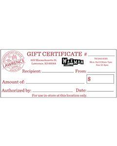 Lawrence, KS - Gift Certificate