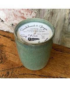 Soy Filled Ceramic Vessel - Sandalwood & Ginger