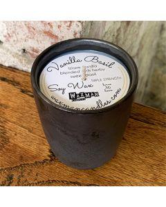 Soy Filled Ceramic Vessel - Vanilla Basil